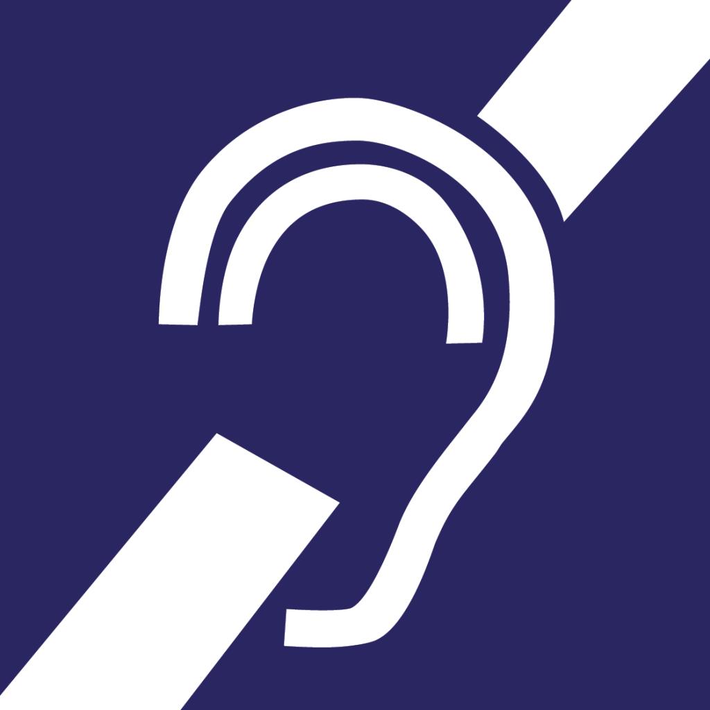 Pictogramme général des sous-titrages pour sourds et malentendants