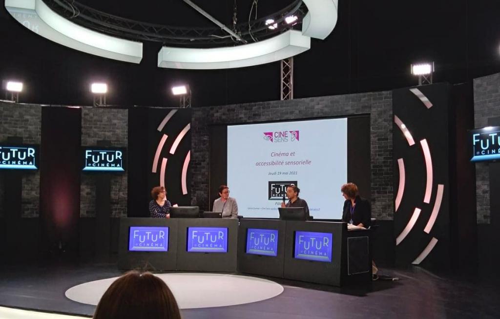 Ciné Sens présente ses actions et sa place d'acteur ressource aux challenge Futur@Cinema.
